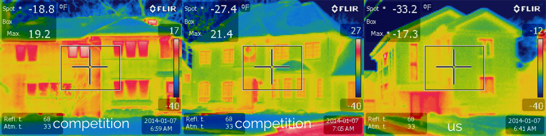 Heatmap of a house's energy loss